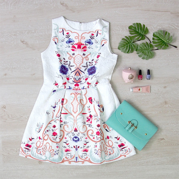 Faith Embroidery Dress
