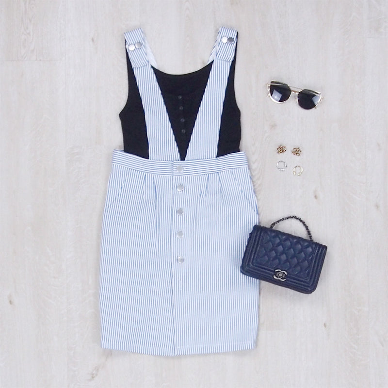 Angie Striped Pinafore