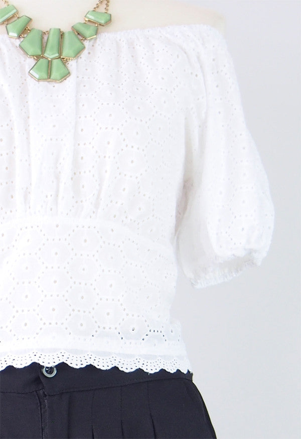 Bella Eyelet Blouse