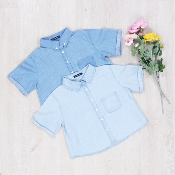 Caryn Denim Blouse