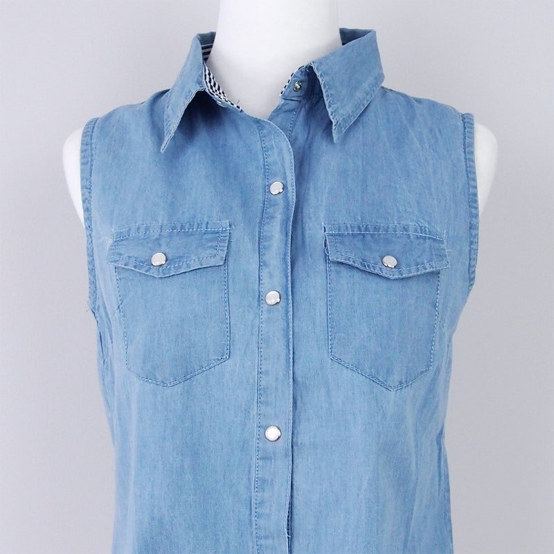 Cassie Denim Blouse