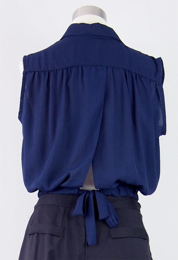 Claire Open-Back Blouse
