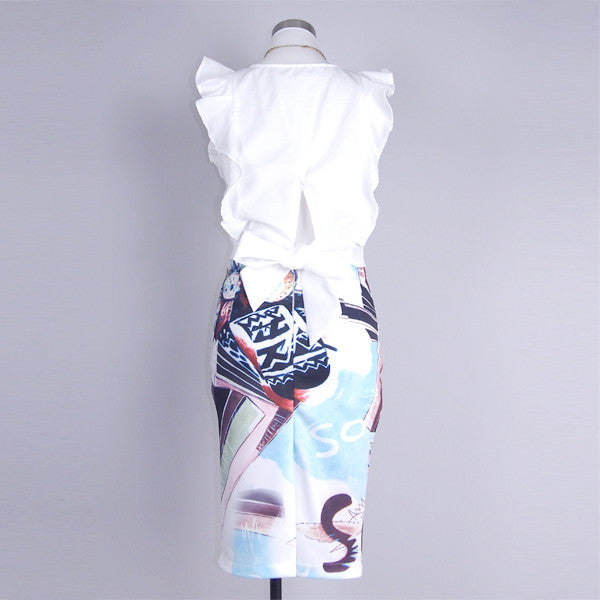 Hadlee Printed Pencil Skirt