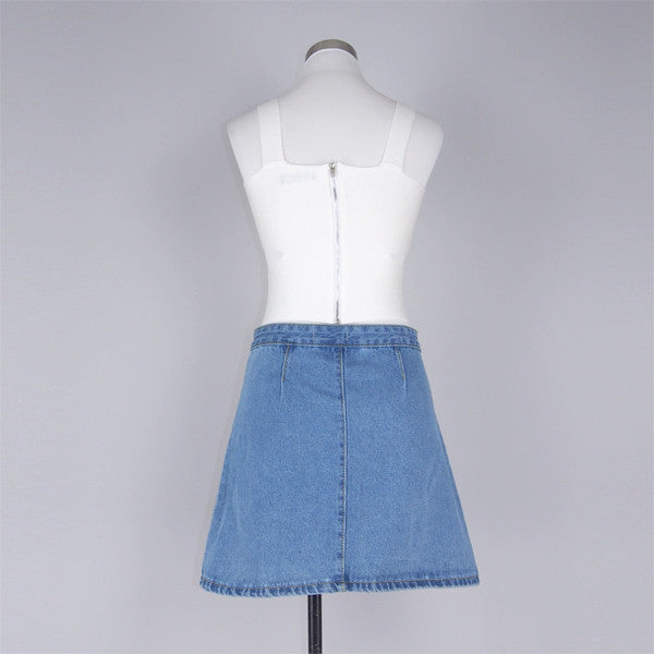 Jaelyn Denim Skirt