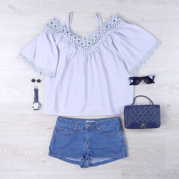 Jazley Cold Shoulder Top