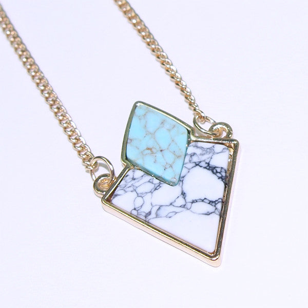 Marble Slab Diamond Necklace