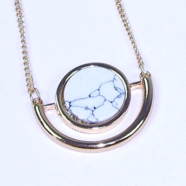 (Restocked) Marble Slab Round Necklace