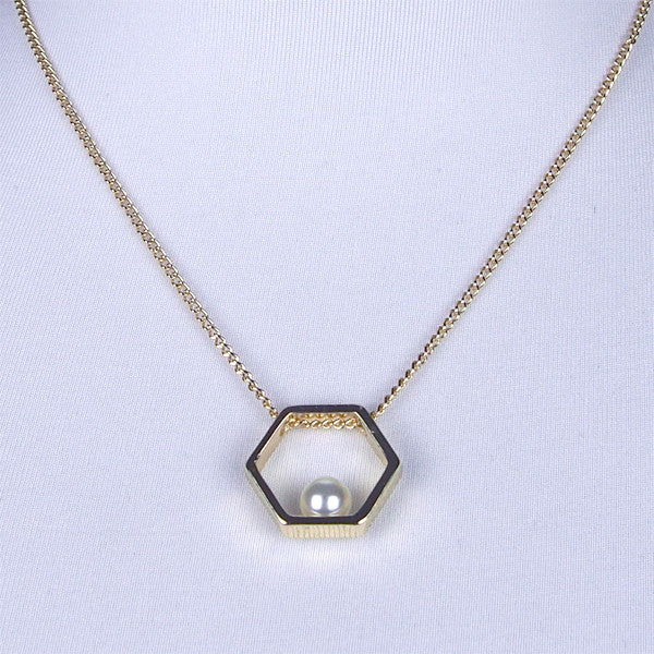Pearl Hexagon Necklace