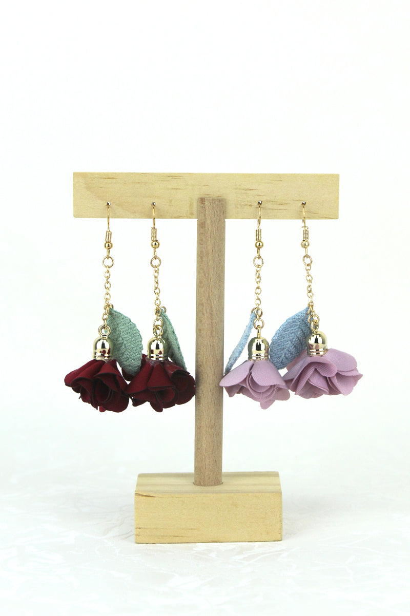 Gretchen Floral Drop Earrings