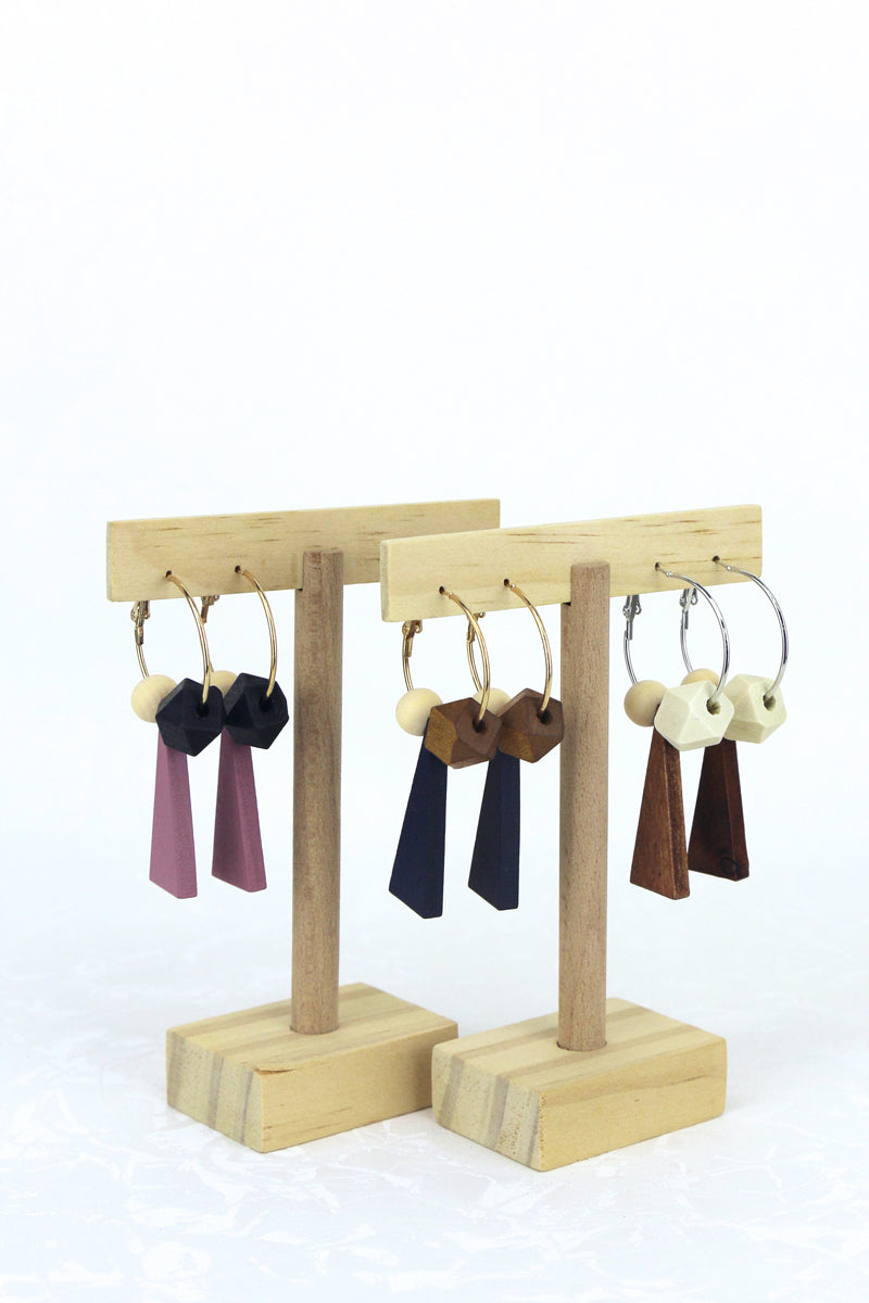 Polly Geometric Hoop Earrings