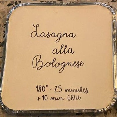 Lasagna Sunday Alla Bolognese (Sundays only, order cut-off 6 pm Saturday)