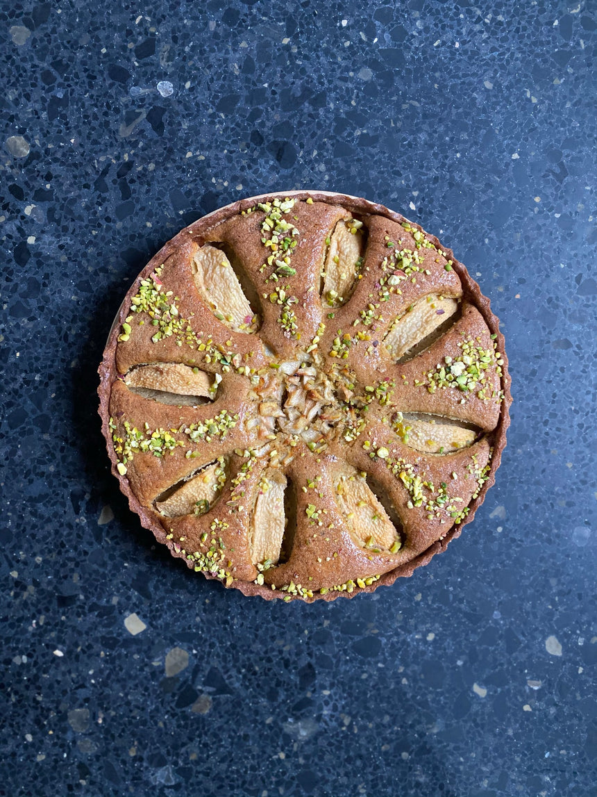 Pear & Pistachio Tart (24 hours notice)