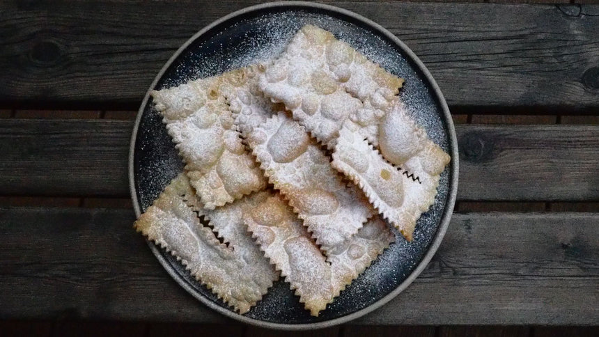 Chiacchiere, Bugie, Galani, Cenci, Frappe or Crostoli  (24 hours notice)