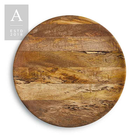 ARLO COUPE MANGO WOOD CHARGER PLATE