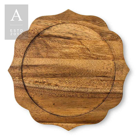 BENNETT NATURAL DARK CHARGER PLATE