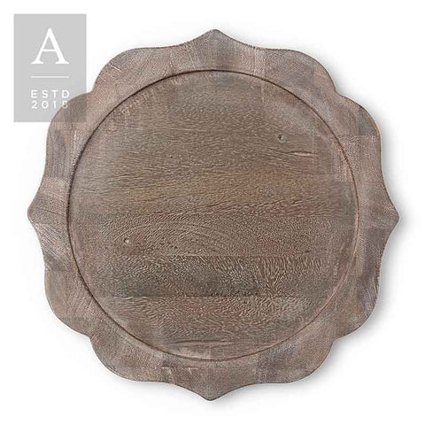 BENNETT RUSTICO GREY CHARGER PLATE