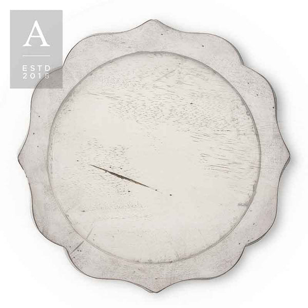 BENNETT WHITEWASH CHARGER PLATE
