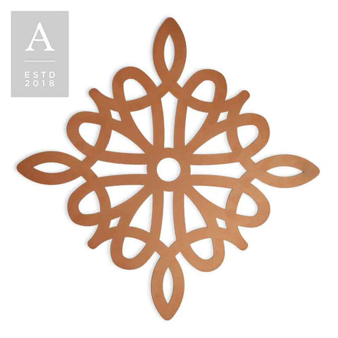 DIE-CUT VINTAGE DIAMOND COPPER CHARGER MAT