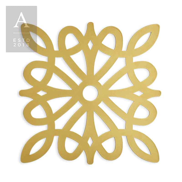 DIE-CUT VINTAGE DIAMOND GOLD CHARGER MAT