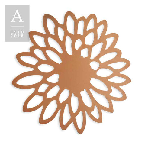DIE-CUT ZINNIA COPPER CHARGER MAT