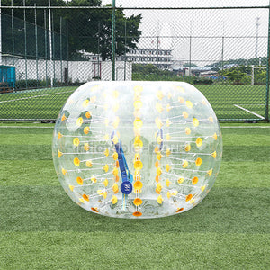 Cheerful Yellow Location Bubble Foot for Sale, 1.5m Bubble Ball Football for Outdoor Sport