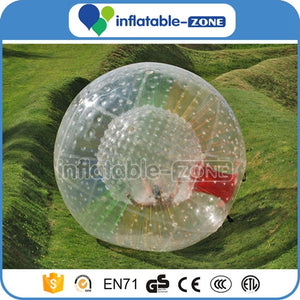 2016 inflatable grass zorb ball, high quality PVC human humster ball