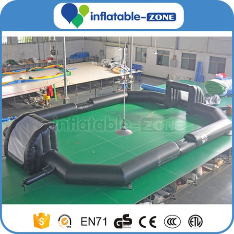 Black color Inflatable Soccer Field, inflatable sports game Inflatable Zone TM