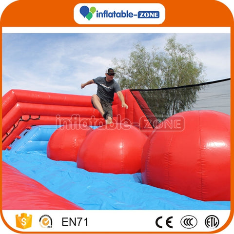 Customized inflatable wipeout game inflatable ball wipeout obstacle course Inflatable Zone TM