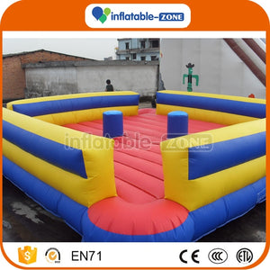 Inflatable gladiator jousting arena fighting game for sale, inflatable sports game Inflatable Zone TM