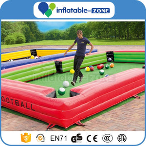 inflatable soccer billiards, inflatable sports game, inflatable snookball game for sale Inflatable Zone TM