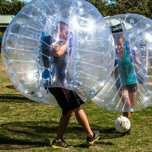 Super Deal, 10pcs 1.5m Clear PVC Bubble Football,1 Free Pump