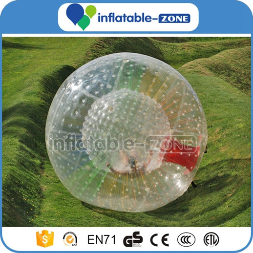 Clear inflatable grass zorb ball, Snow Zorb ball with factory price