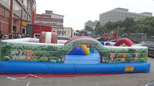 mini trampoline with handle,inflatable  cowboy fun city,jumping inflatable fun city