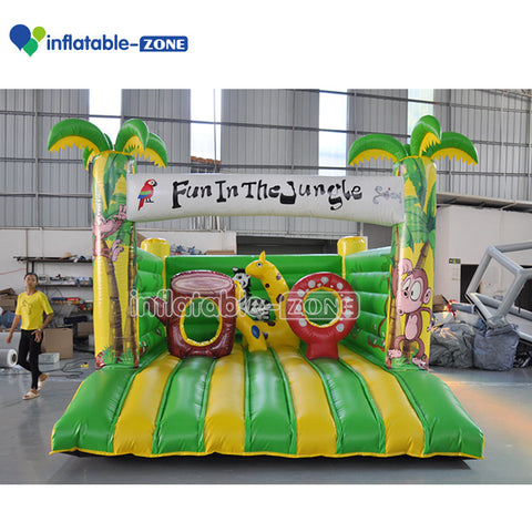 Bounce house combo for sale inflatable haunted castle beautiful