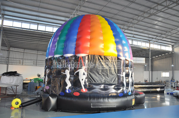 Inflatable disco music bouncy castle combo intex inflatable jump lene ball pit castle bouncer