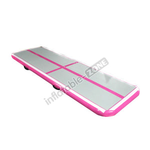 Appropriate and cheap gray-pink cross curve small air track gymnastics for party