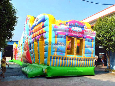 inflatable play land combos,inflatable jumping fun city,giant inflatable palyground