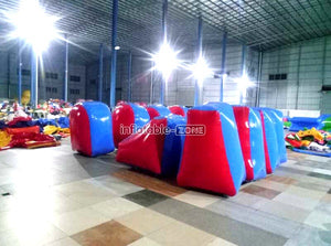 Foreign sales red and blue inflatable kids games,gladiator inflatable game indoor games