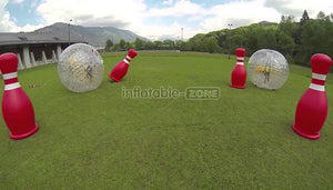 Free shipping,4 human bowling balls with 2 zorb ball for sale