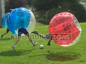 Free shipping for 5 half red, 5 half blue Dia 1.5m bubble ball and 1 pump