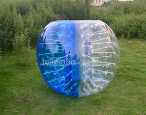 Free shipping 1.5m bubble football for sale,wholesale price bubble football ball-blue
