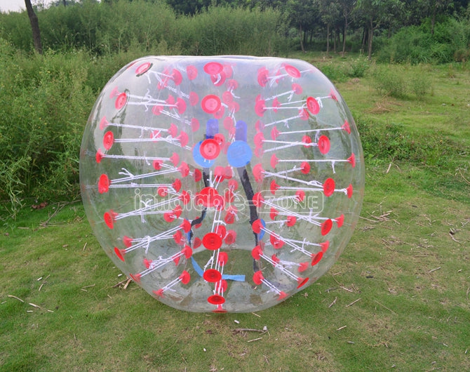 Free shipping wholesale bubble balls,zorb soccer balls for sale-red dot