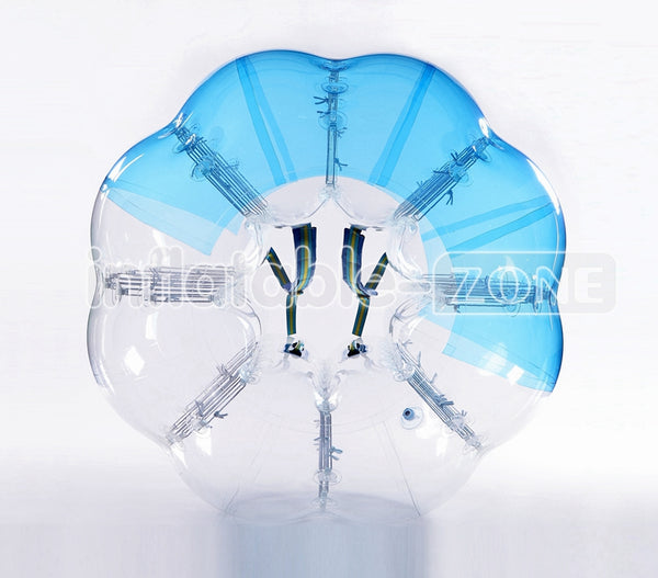 Free Shipping 1.5m bubble soccer mieten,human inflatable bumper bubble balls-half blue