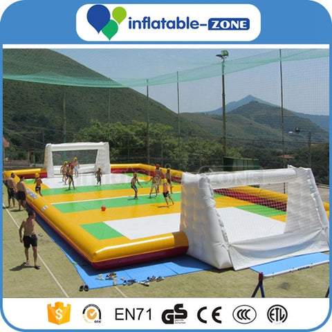 Inflatable Football Arena pitch,inflatable soccer field,inflatable soccer pitch with abstacle
