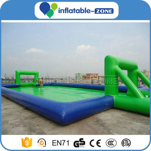 Inflatable Football Soccer Field,Inflatable soap football field,door close to door giant inflatable soccer pitch