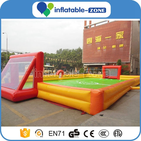 Inflatable bubble football bumper ball Field,inflatable water football pitch with pool,Inflatable Soccer bubble bumper ball Field