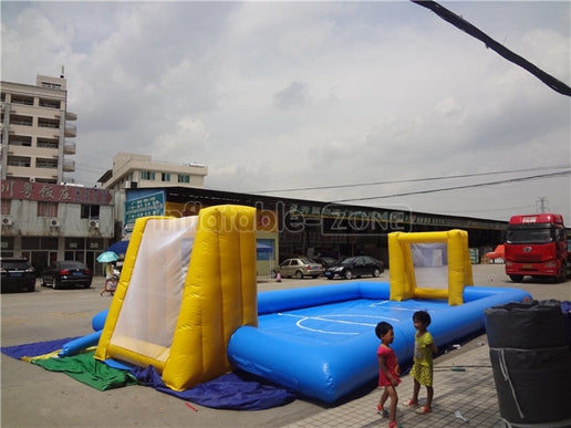 inflatable football pitch for sale,Inflatable goals football field,Big goal inflatable football field