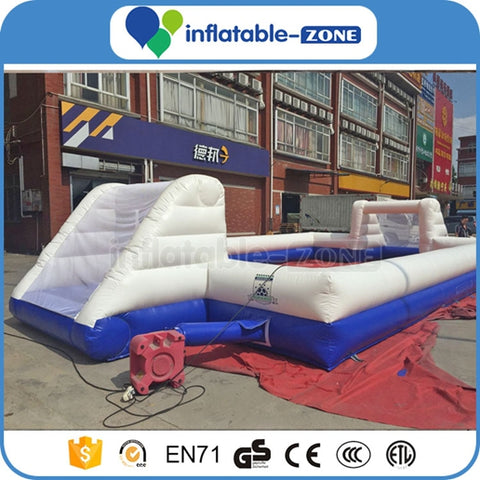 Utah soccer arena,Goal close to goal inflatable football field,Giant inflatable soap football field with water pool