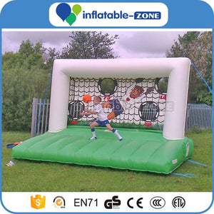 shootout inflatable soccer goal,inflatable football toss game