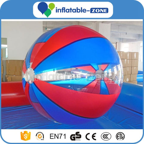 Beautiful Color ball of water  zorbing on water  water skipping ball  ball water
